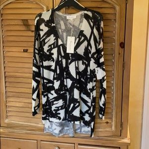 NWT Vince Camuto sweater XL acrylic Black/cream